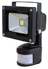 LED VERSTRALER met SENSOR 10 Watt Zwart