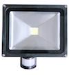 LED VERSTRALER met SENSOR 50 Watt Zwart